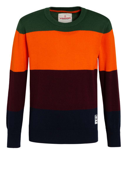 VINGINO Pullover, Farbe: ORANGE/ GRÜN/ DUNKELROT (Bild 1)