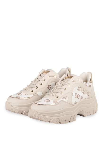 GUESS Plateau-Sneaker , Farbe: WEISS/ CREME (Bild 1)