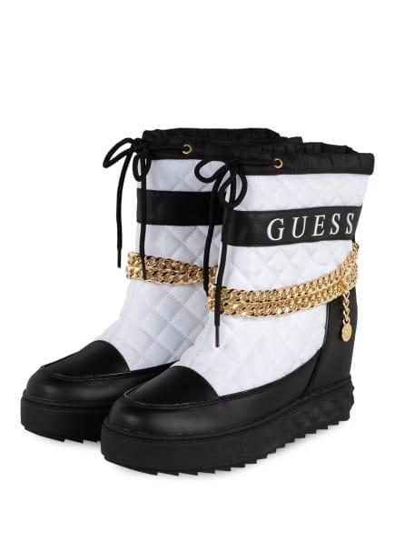 GUESS Plateau-Boots, Farbe: SCHWARZ/ WEISS (Bild 1)
