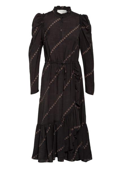 MUNTHE Kleid LUDVIG, Farbe: SCHWARZ/ TAUPE (Bild 1)