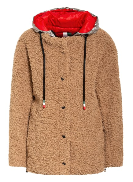 No.1 Como Teddyfell-Jacke REBECCA mit herausnehmbarer Blende, Farbe: CAMEL/ SILBER (Bild 1)