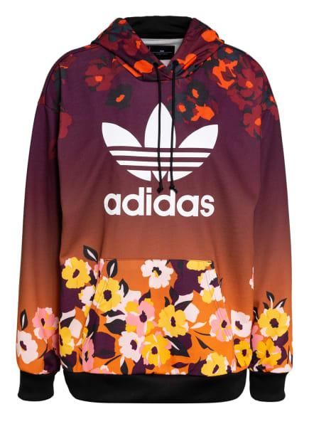 adidas Originals Hoodie HER STUDIO LONDON, Farbe: DUNKELLILA/ DUNKELROT/ DUNKELORANGE (Bild 1)