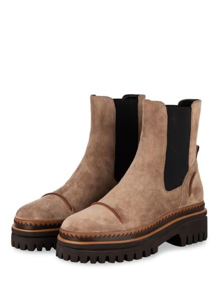 ELVIO ZANON Chelsea-Boots , Farbe: BEIGE/ SCHWARZ (Bild 1)