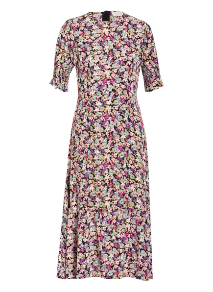 NEO NOIR Kleid MEJSE , Farbe: SCHWARZ/ OLIV/ FUCHSIA (Bild 1)