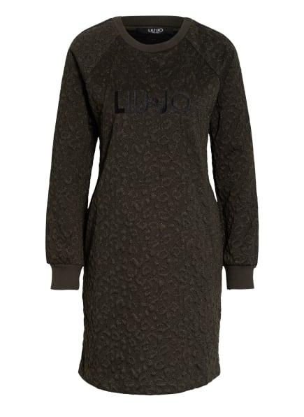 LIU JO Kleid mit Glitzergarn, Farbe: DUNKELGRÜN/ SCHWARZ (Bild 1)