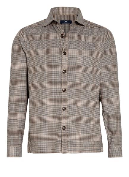 STROKESMAN'S Overshirt, Farbe: BEIGE/ DUNKELBRAUN/ PETROL (Bild 1)