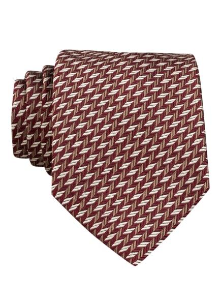 strellson Krawatte TIE aus Seide, Farbe: DUNKELROT/ WEISS/ HELLBRAUN (Bild 1)