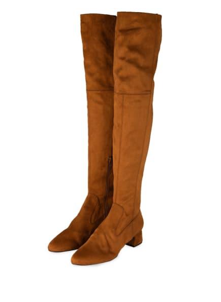UNISA Overknee-Stiefel LUKAS, Farbe: BRAUN (Bild 1)