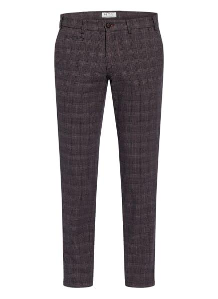 HILTL Chino TUCKER Slim Fit, Farbe: GRAU/ DUNKELROT/ DUNKELBLAU (Bild 1)