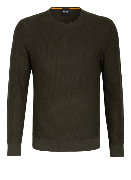 BOSS Pullover KOMALLO , Farbe: DUNKELGRÜN (Bild 1)
