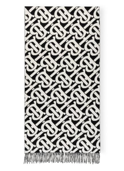 BURBERRY Cashmere-Schal, Farbe: WEISS/ SCHWARZ (Bild 1)