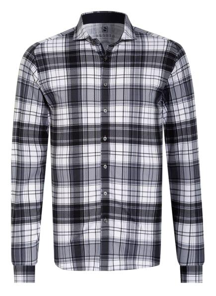 DESOTO Jerseyhemd Slim Fit, Farbe: WEISS/ DUNKELBLAU (Bild 1)