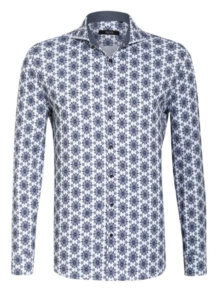 DESOTO Jerseyhemd LUXURY Slim Fit, Farbe: WEISS/ DUNKELBLAU/ BLAUGRAU (Bild 1)