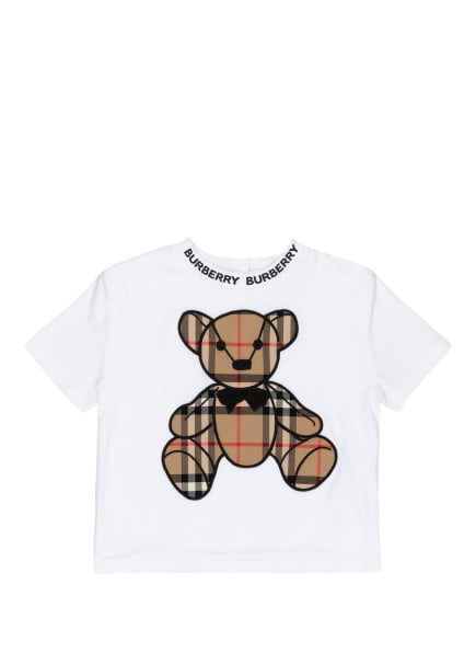 BURBERRY T-Shirt, Farbe: WEISS/ SCHWARZ/ BEIGE (Bild 1)