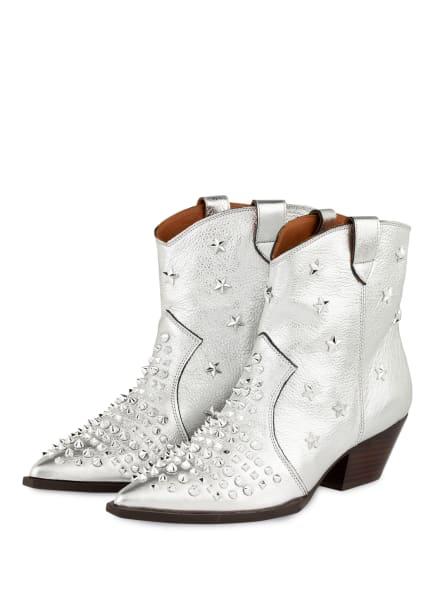 ras Cowboy Boots mit Nieten, Farbe: SILBER (Bild 1)