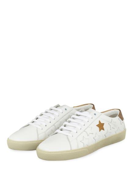 SAINT LAURENT Sneaker STAR, Farbe: WEISS/ GOLD (Bild 1)