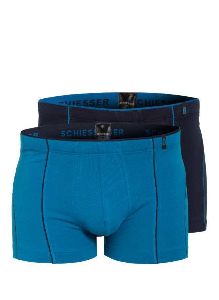SCHIESSER 2er-Pack Boxershorts , Farbe: DUNKELBLAU/ BLAU (Bild 1)