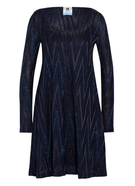 M MISSONI Kleid mit Glitzergarn, Farbe: DUNKELBLAU (Bild 1)