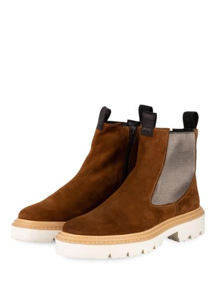 DONNA CAROLINA Chelsea-Boots, Farbe: COGNAC/ SILBER (Bild 1)
