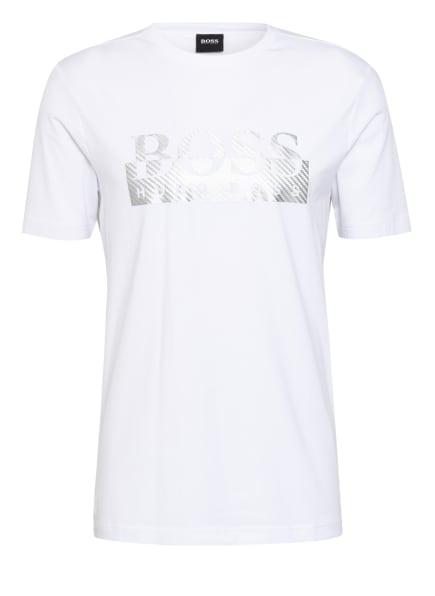 BOSS T-Shirt TEE 4, Farbe: WEISS/ SILBER (Bild 1)