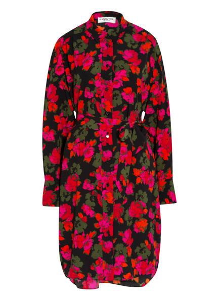ESSENTIEL ANTWERP Hemdblusenkleid, Farbe: SCHWARZ/ PINK/ OLIV (Bild 1)