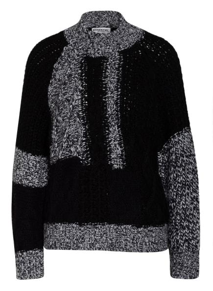 ESSENTIEL ANTWERP Pullover WAMES, Farbe: SCHWARZ/ WEISS/ HELLGRAU (Bild 1)