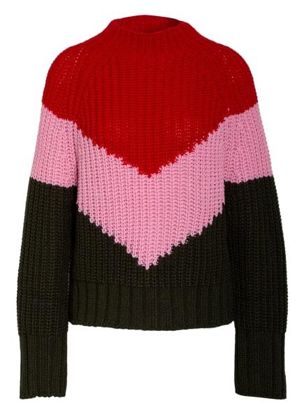 ESSENTIEL ANTWERP Pullover WAVINCI, Farbe: ROT/ ROSA/ OLIV (Bild 1)