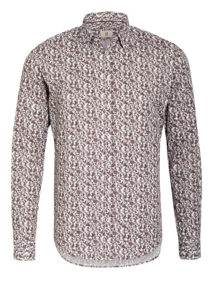 Q1 Manufaktur Hemd Extra Slim Fit, Farbe: WEISS/ DUNKELROT/ ROSA (Bild 1)