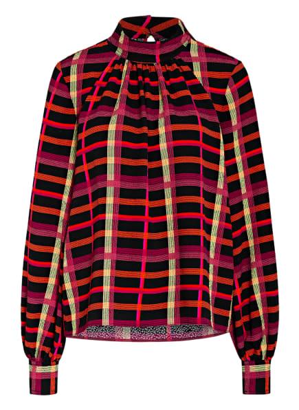 STINE GOYA Blusenshirt EDDY, Farbe: SCHWARZ/ ORANGE/ NEONGELB (Bild 1)