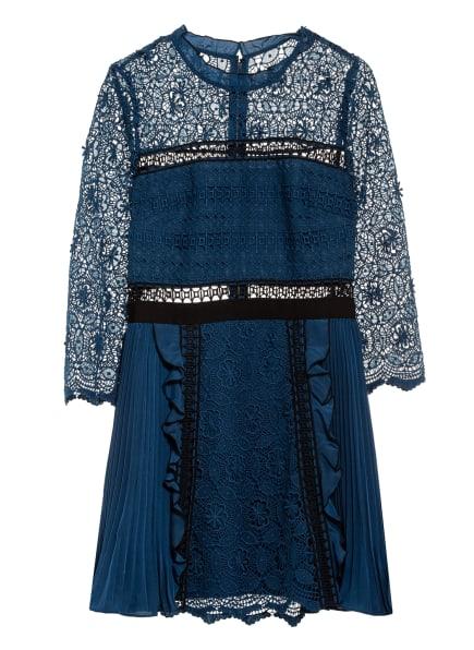 self-portrait Kleid mit 3/4-Arm, Farbe: BLAU/ SCHWARZ (Bild 1)