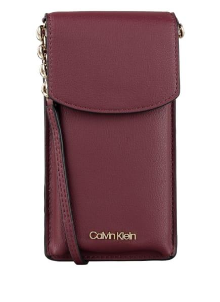 Calvin Klein Smartphone-Tasche, Farbe: DUNKELROT (Bild 1)