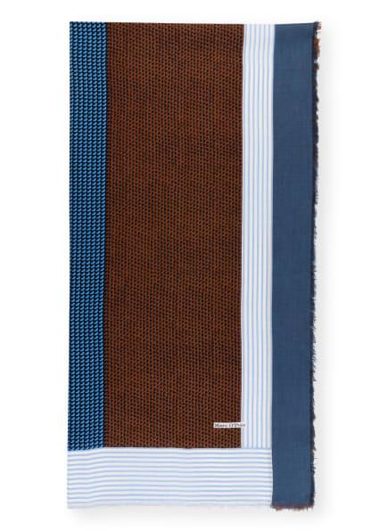 Marc O'Polo Schal , Farbe: BRAUN/ HELLBLAU/ DUNKELBLAU (Bild 1)