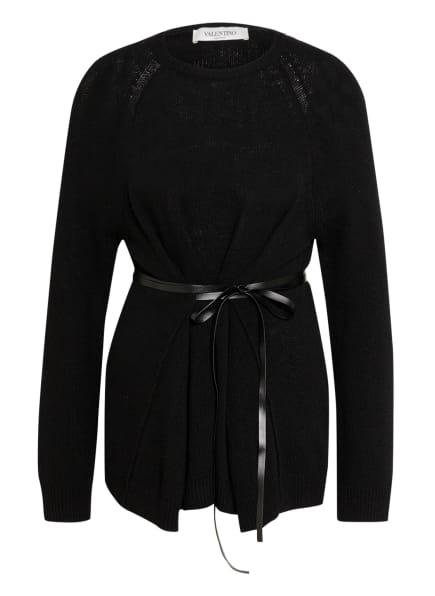 VALENTINO Pullover mit Cashmere, Farbe: SCHWARZ (Bild 1)