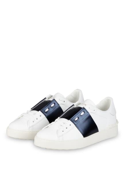 VALENTINO GARAVANI Sneaker OPEN, Farbe: WEISS/ DUNKELBLAU (Bild 1)