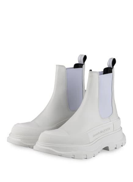 Alexander McQUEEN Chelsea-Boots, Farbe: WEISS (Bild 1)