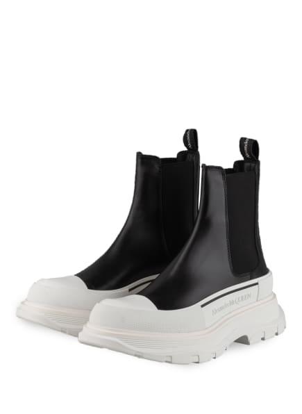 Alexander McQUEEN Chelsea-Boots, Farbe: SCHWARZ/ WEISS (Bild 1)