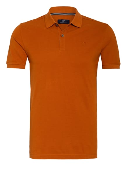 STROKESMAN'S Piqué-Poloshirt, Farbe: DUNKELORANGE (Bild 1)