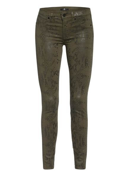 7 for all mankind Skinny Jeans THE SKINNY , Farbe: KHAKI/ SCHWARZ (Bild 1)
