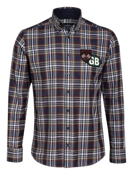 HACKETT LONDON Hemd Slim Fit, Farbe: DUNKELBLAU/ BRAUN/ GRÜN (Bild 1)