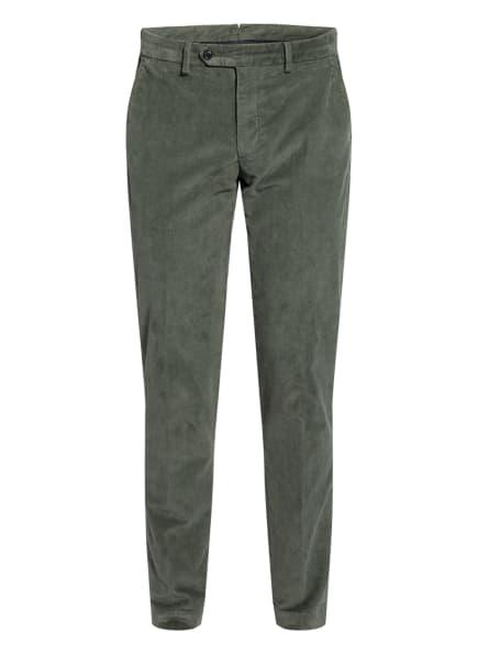 HACKETT LONDON Cord-Chino Regular Fit, Farbe: DUNKELGRÜN (Bild 1)