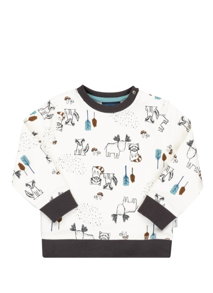 Sanetta KIDSWEAR Sweatshirt, Farbe: ECRU/ DUNKELGRAU/ BRAUN (Bild 1)