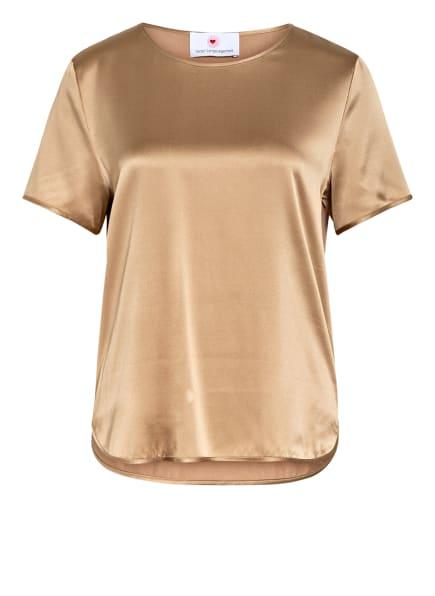 herzensangelegenheit T-Shirt mit Seide, Farbe: CAMEL (Bild 1)