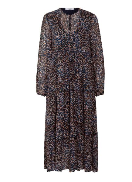 LOUIS and MIA Kleid mit Volants, Farbe: DUNKELBLAU/ CREME/ HELLORANGE (Bild 1)