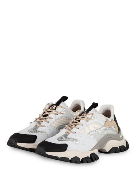 MONCLER Plateau-Sneaker LEAVE NO TRANCE, Farbe: WEISS/ HELLGRAU (Bild 1)