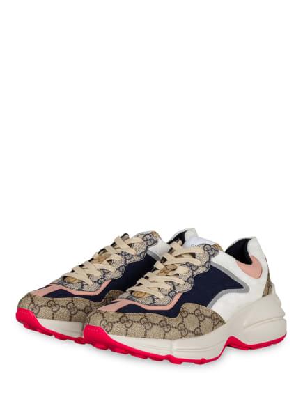 GUCCI Plateau-Sneaker RHYTON GG, Farbe: 4371 LOND.BL/BE.EB/P.PI/B (Bild 1)