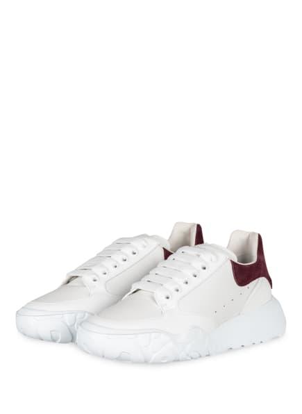 Alexander McQUEEN Plateau-Sneaker, Farbe: WEISS/ DUNKELLILA (Bild 1)
