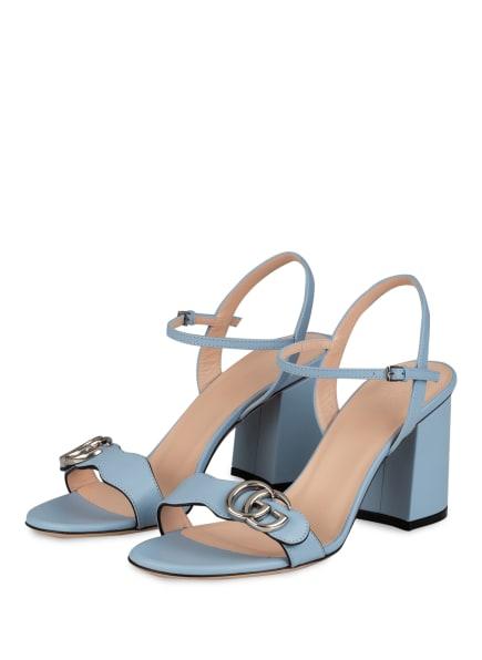GUCCI Sandaletten GG MARMONT, Farbe: 4928 PORCELAIN LT BLUE (Bild 1)