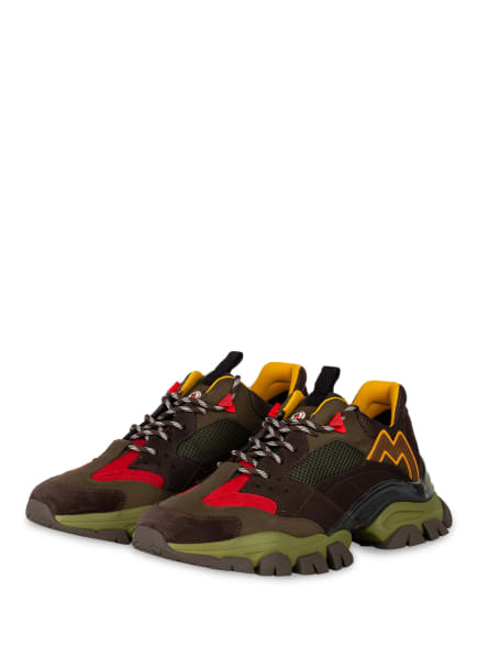 MONCLER Sneaker LEAVE NO TRACE, Farbe: OLIV/ GRÜN/ ROT (Bild 1)