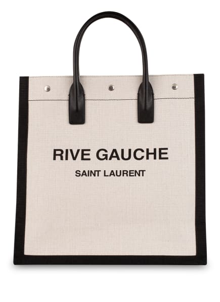 SAINT LAURENT Shopper, Farbe: WEISS/ SCHWARZ (Bild 1)