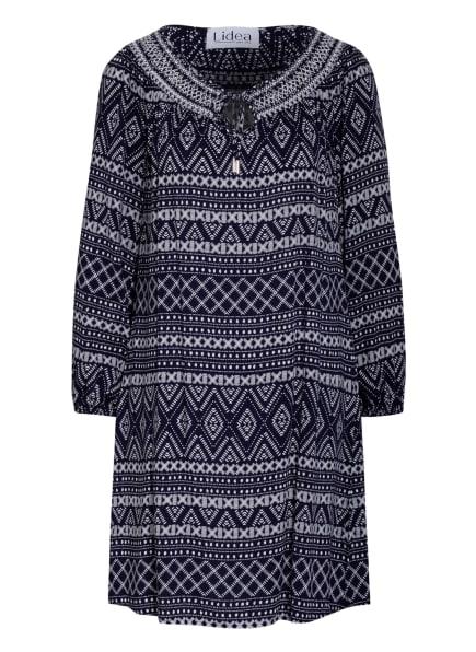 Lidea Off-Shoulder-Kleid DOT, Farbe: DUNKELBLAU/ WEISS (Bild 1)